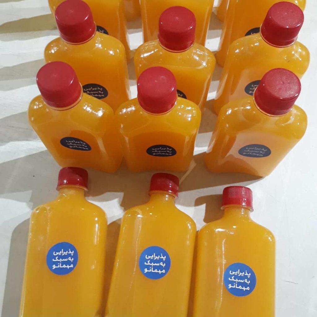 آب پرتقال و شربت پرتقال مهمانو تو هوای گرم میچسبه