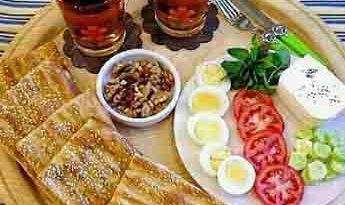 صبحانه ادرای مهمانو