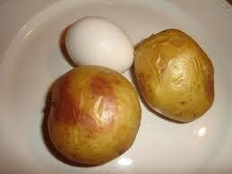 عکس تخم مرغ و سیب زمینی